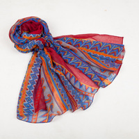 Western national wind colorful voile scarf for women top quality and best price scarf for women fit for winter and Autumn