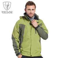 Male outdoor jacket men's clothing casual outerwear windproof waterproof m6