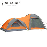Double layer rain camping tent field camping casual
