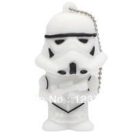Wholesales 10 pcs/lot cartoon star wars white warrior model usb flash drive pendrive star wars free shipping