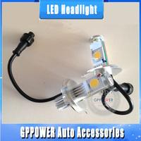 Free shipping, 50W H4 Hi/Low car LED headlight, vehicle fog light, new CREE CXA1512 chips, 2000LM more brightness.