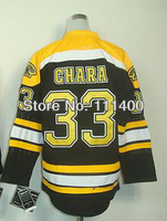 Free shipping Kids-#33 Zdeno Chara Black with C patch Authentic Ice Hockey Jersey Youth size: S/M and L/XL Can Mix Order