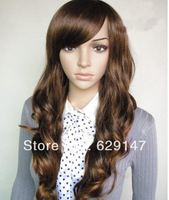 2013 fashion wig Colors New Style Womens Sexy Long Full Wavy Hair Wig gift