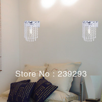 Free Shipping 110-240V Modern Crystal Wall Sconce Home Decoration Bedside Lamp 1 Light Max 40W L22XW12CM In Fast Delivery Time
