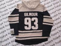 Toronto #93 Doug Gilmour Dark Blue Hockey Hoodies Authentic Hockey Hoodie Free Shipping