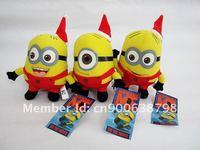 Wholesale 100pcs/Lot Christmas Plush Toy Despicable Me Minions 7'' Dolls Stuffed Animals 100pcs/Lot