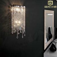 Free shipping Wall lamp bed-lighting wall lamp modern brief crystal lamp led wall lights bedroom lamps rustic aisle lights