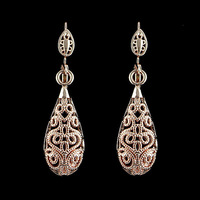 Mother's Day Gifts 2014 New Fashion Design Jewelry 18K Gold Plated Hollow Out  Alloy Drop Earrings  For Women