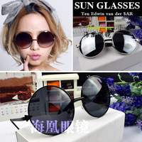 Round circle frame sunglasses glasses male female boss mirror
