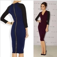 Free Shipping NEW Women's Dress Lady Fashion dresses 1.2013new victoria beckham dress