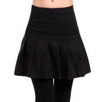 2013 autumn and winter female bust skirt pleated skirt slim high waist plus size woolen short skirt