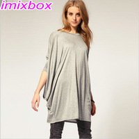 Free Shipping Drop Shipping Fashion Women's loose knitting blouses with bat sleeve W4167