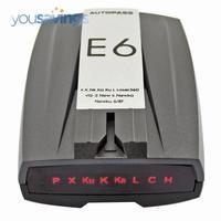 E6 Car Radar Detector Russian English With LED Display Free Drop shipping
