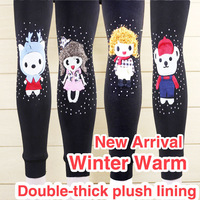 New Arrivals Kids Girls Thick Double Thick Plush Lining Winter Leggings Pants Warm Velvet Pants Free Shipping