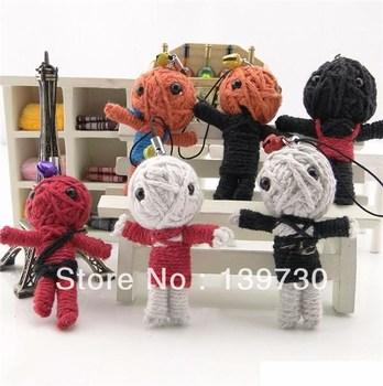 Voodoo doll mobile phone pendant handmade charm