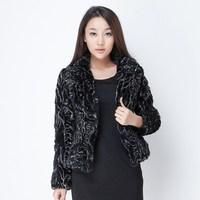 2013 winter blazer rex rabbit hair fur coat short design women's fur coat free shipping
