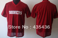 Free Shipping Oklahoma Sooners Custom College Football Jerseys, Embroidery Stitched On-Field Jersey size M to 5XL