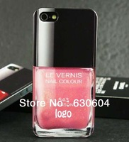 Fashion High Quality Nail Color Polish Case Cover TPU Back Shell for iPhone 5 5S Wholesale Free Shipping 10pcs/lot