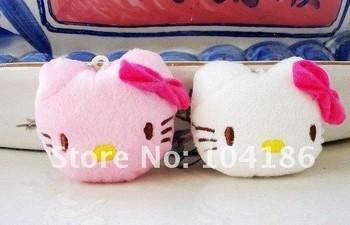 120PCS/LOT Plush Stuffed TOY; Kawaii 4CM  Hello Kitty DOLL Cell Mobile Phone Strap Charm Pendant Chain Lanyard BAG KEY Chain