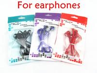 new retail package for earphones ,purple,blue,red 3 colors 100pcs/lot