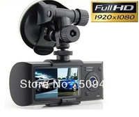 """car dvr dual lens 2.7"""" HD X3000 with GPS support Rearview camera video recorder 720P IR Night Vision Free shipping!"""