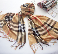 Free shipping!high quality spring and fall women classic pashmina British style plaid scarf silk wool scarves wholesale A1002