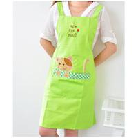 Free shipping Hearts . cartoon animal aprons lounge slanting stripe cat aprons sleeveless cotton 100%