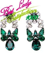 shourouk european  big green crystal earrings Colorful Korean sweet wild style drop earrings 6425