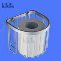 Blue rattan space aluminum bathroom solid toilet paper box bumpered paper towel holder tissue box