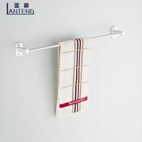 Blue rattan space aluminum bathroom towel rack towel rack single towel rack