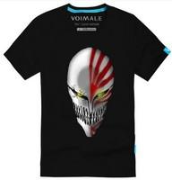 anime A god of death BLEACH The black battery ichigo Personality symbols leisure Men's short sleeve T-shirt Pure cotton