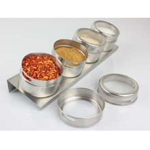 Novelty Derlook stainless steel spice jar suspension spice jar daily necessities(China (Mainland))