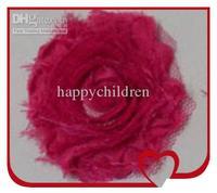 Flower HalloweenChristmas Blending  Fashion Shabby Chiffon Flower 2.3' Shabby Flower 240 Pcs/lot06