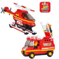 0219 blocks rapid fire / Airport Fire Designers children educational toys Lego compatible