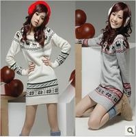 Free shipping special offer women new Slim Semir big yards long section rendering sweater