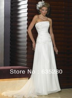 Elegant Strapless Wedding Dresses Fashion Applique Chiffon w122