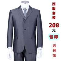 Male casual suits 2013 autumn and winter gray quinquagenarian male suit jacket plus size plus size