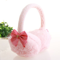 Fashion bow lace thermal fleece earmuffs elevated girls ear package earmuffs