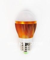 Wholesale Shell color gold E27 e27 base Taiwan ship led smd 5*1w LED Bulb light ac85-265V Aluminum LED Bubble Ball Bulb for home