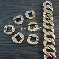 Free shipping 100pcs Plating UV Fashion Jewelry Findings 19*18mm circular  Combination plastic chain