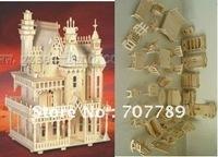 1:24 3D puzzle model, miniature doll house+34pcs Furniture play house toy puzzle  miniature free shipping