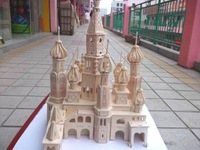 3D wood wooden puzzle doll house model toy miniature free shipping ST.PETERSBURG