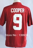 Fast free shipping #9 Amari Cooper Red SEC patch Alabama Crimson Tide College Football Jerseys