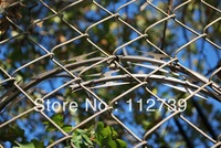 Construction Chain Link Fence, Hot-dipped And Electroplated Galvanized Appearance Treatment, Galvanized Wire3.2mm