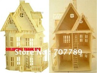 1:24 3D puzzle model, miniature doll house play house toy puzzle  miniature free shipping