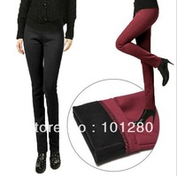 2013 new autumn winter thick plus velvet elastic leggings women's fashion large size pants trousers jeans E5-E6