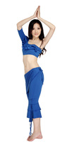 Free shipping NEW arrival belly dance tribal costume practice dancing wear hot selling costumes 2pcs/set (top & pant)