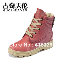 gucihaven shoes2013 Autumn winter brand women's marten boots fashion rivets elevator shoes warm Snow boots yellow,pink ankle boo