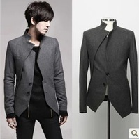 HOT SELL Autumn men's clothing outerwear male casual suit slim blazer men's blazer male woolen suit