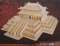 Handmade wooden assembly model yakuchinone 3d puzzle model free shipping